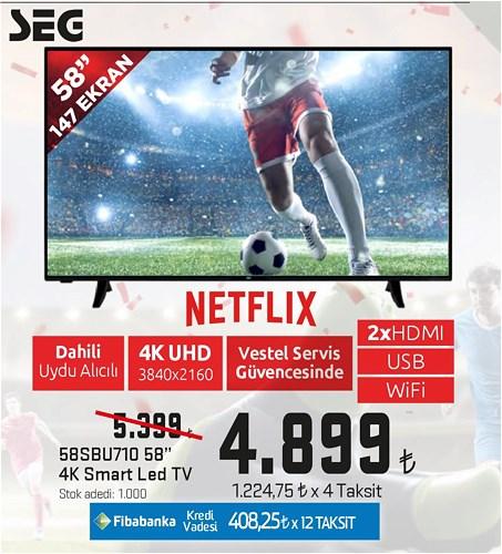 "Seg 58SBU710 58"" 147 Ekran 4K Smart Led Tv image"