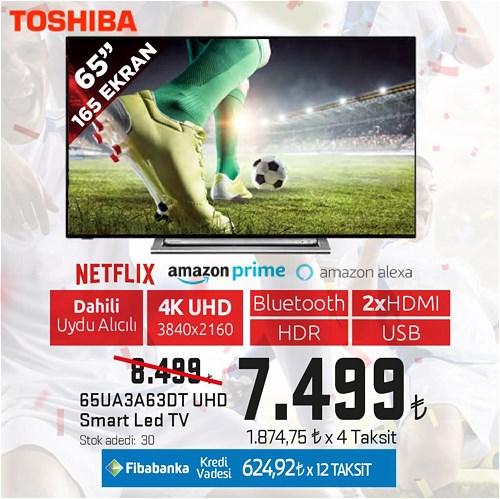 """Toshiba 65UA3A63DT 65"""" 165 Ekran UHD Smart Led Tv image"""