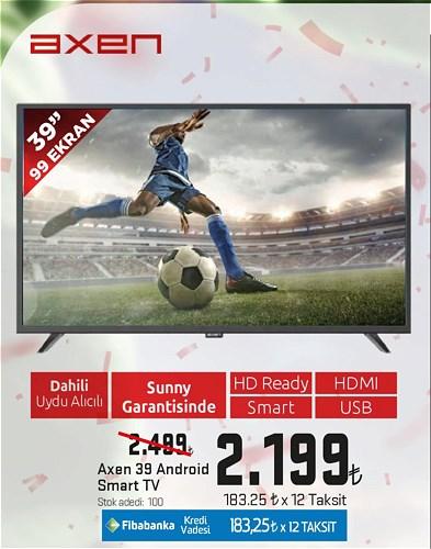 """Axen 39"""" 99 Ekran Android Smart Tv image"""