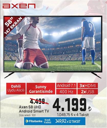 Axen 58 147 Ekran UHD Android Smart Tv image