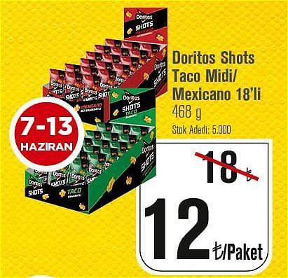 Doritos Shots Taco Midi/Mexicano 18'li 468 g image
