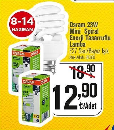 Osram 23W Mini Spiral Enerji Tasarruflu Lamba  image