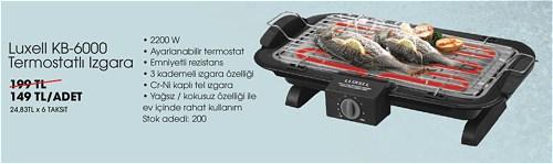 Luxell KB-6000 Termostatlı Izgara 2200 W image