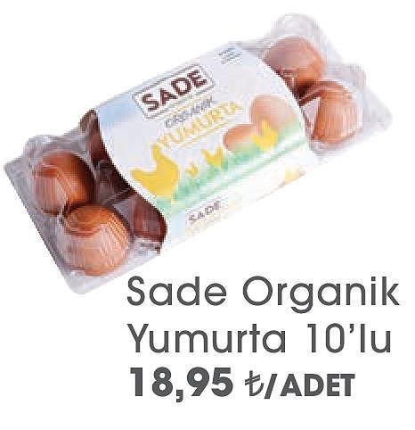 Sade Organik Yumurta 10'lu image