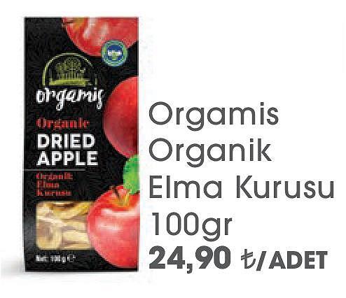 Orgamis Organik Elma Kurusu 100gr image