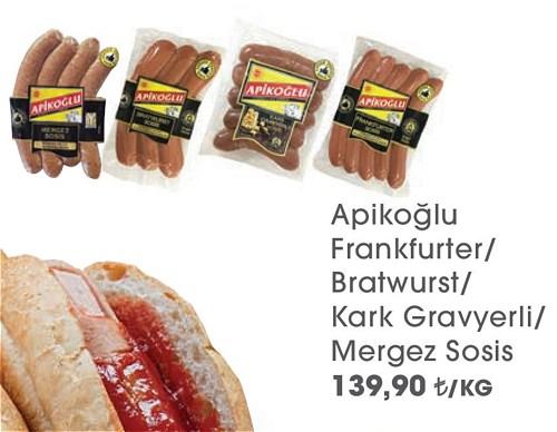 Apikoğlu Frankfurter/Bratwurst/Kark Gravyerli/Mergez Sosis Kg image
