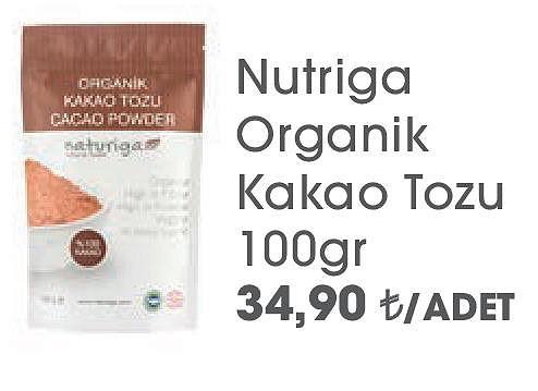 Nutriga Organik Kakao Tozu 100gr image