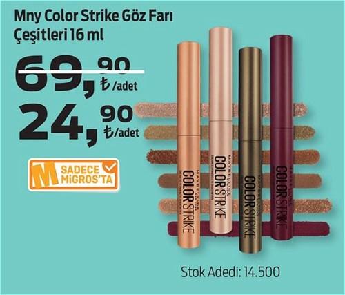 Mny Color Strike Göz Farı Çeşitleri 16 ml image