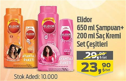 Elidor 650 ml Şampuan+200 ml Saç Kremi Set Çeşitleri image