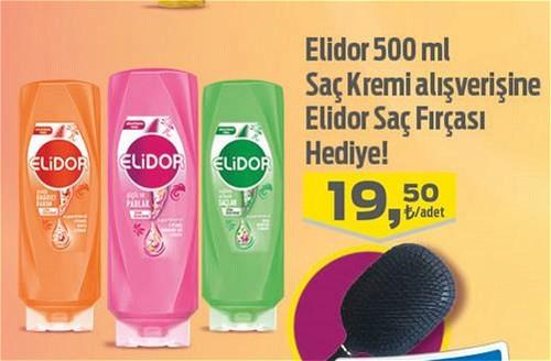 Elidor 500 ml Saç Kremi - Elidor Saç Fırçası Hediye image