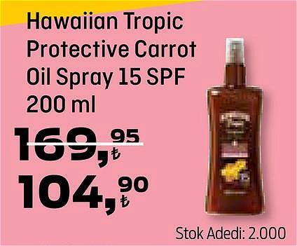 Hawaiian Tropic Protective Carrot Oil Spray 15 SPF 200 ml image