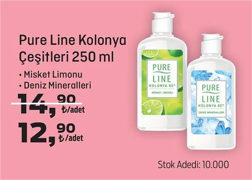 Pure Line Kolonya Çeşitleri 250 ml image