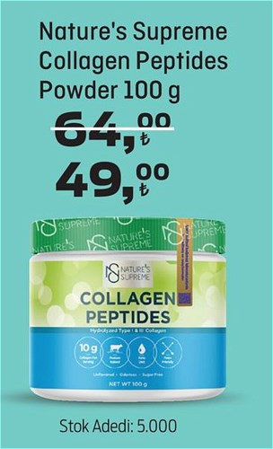 Nature's Supreme Collagen Peptides Powder 100 g image