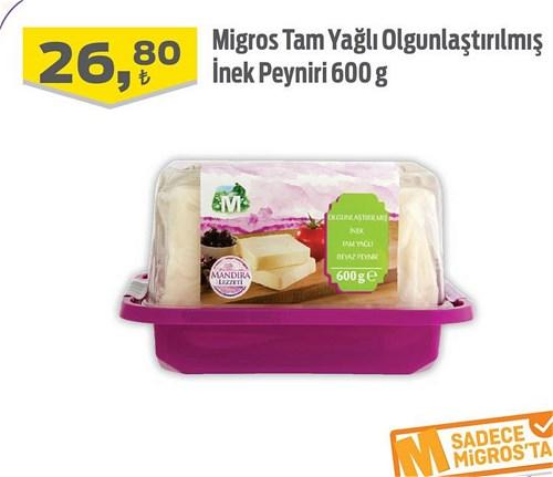 Migros Tam Yağlı Olgunlaştırılmış İnek Peyniri 600 g image