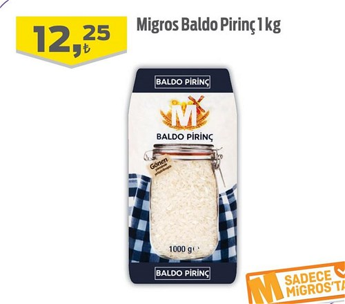 Migros Baldo Pirinç 1 kg image