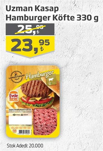 Uzman Kasap Hamburger Köfte 330 g image