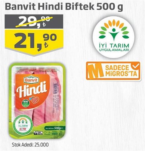 Banvit Hindi Biftek 500 g image