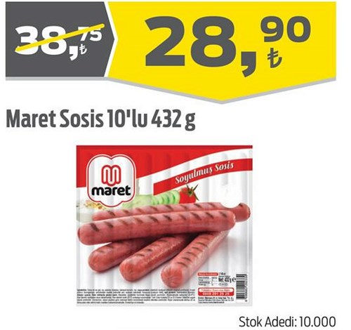 Maret Sosis 10'lu 432 g image