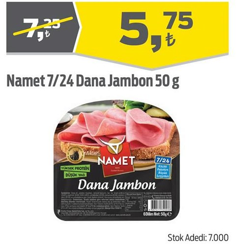 Namet 7/24 Dana Jambon 50 g image