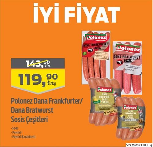 Polonez Dana Frankfurter/Dana Bratwurst Sosis Çeşitleri Kg image