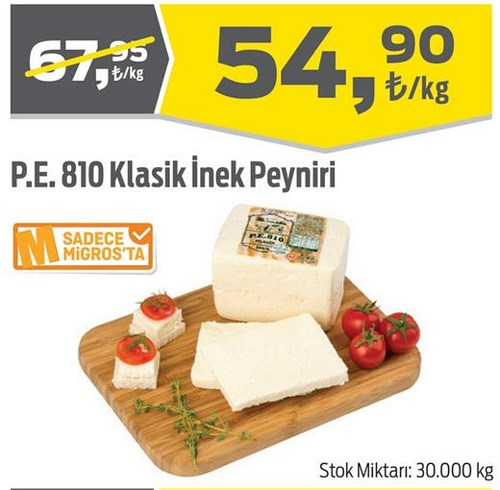 P.E. 810 Klasik İnek Peyniri Kg image