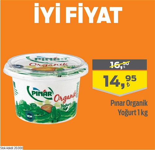Pınar Organik Yoğurt 1 kg image