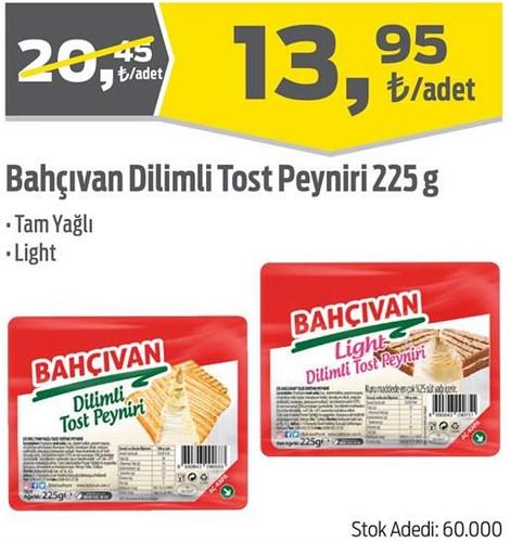 Bahçıvan Dilimli Tost Peyniri 225 g image
