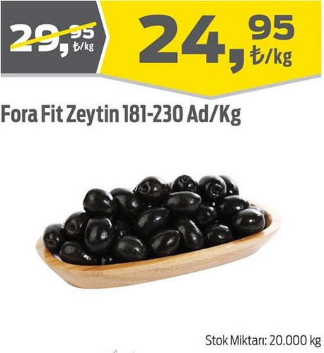 Fora Fit Zeytin 181-230 Ad/Kg image