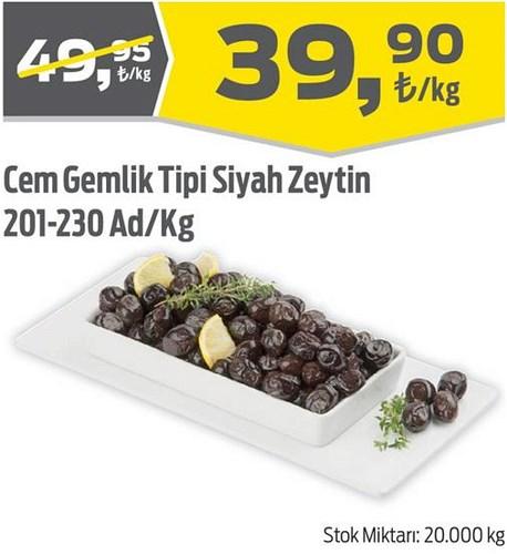 Cem Gemlik Tipi Siyah Zeytin 201-230 Ad/Kg image