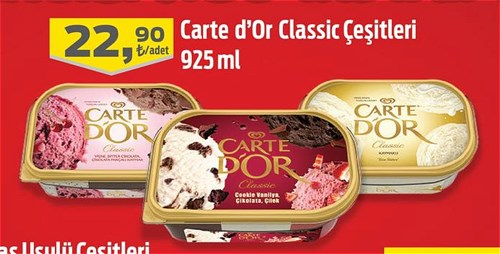Algida Carte D'or Classic Çeşitleri 925 ml image