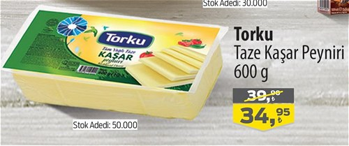 Torku Taze Kaşar Peyniri 600 g image