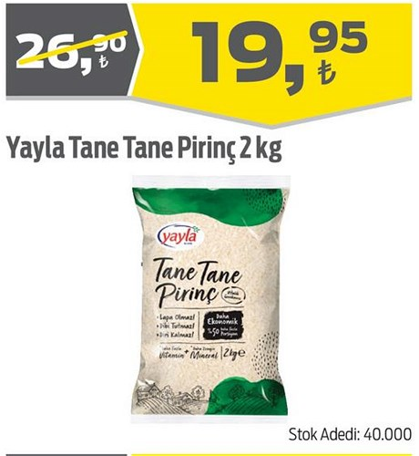 Yayla Tane Tane Pirinç 2 kg image