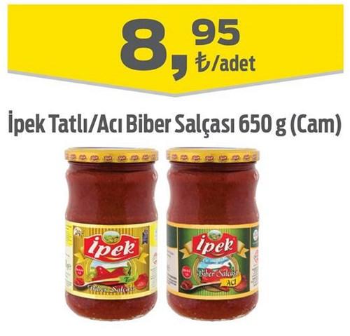 İpek Tatlı/Acı Biber Salçası 650 g (Cam) image