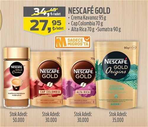 Nescafe Gold Crema Kavanoz 95 g/Cap Colombia 70 g/Alta Rica 70 g/Sumatra 90 g image