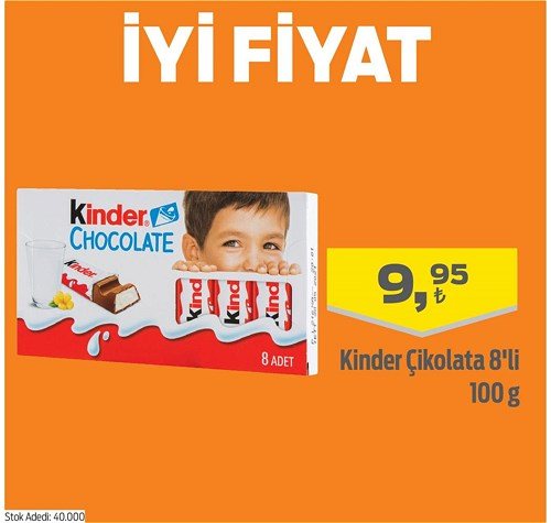 Kinder Çikolata 8'li 100 g image
