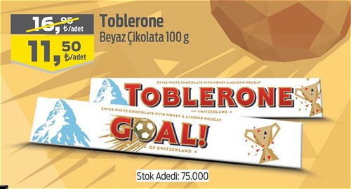 Toblerone Beyaz Çikolata 100 g image