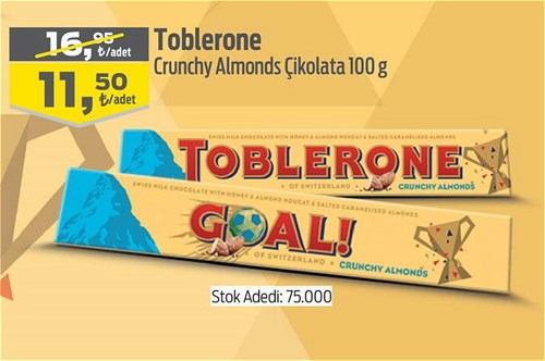 Toblerone Crunchy Almonds Çikolata 100 g image