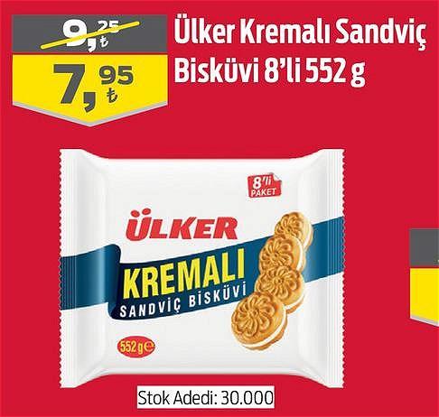 Ülker Kremalı Sandviç Bisküvi 8'li 552 g image