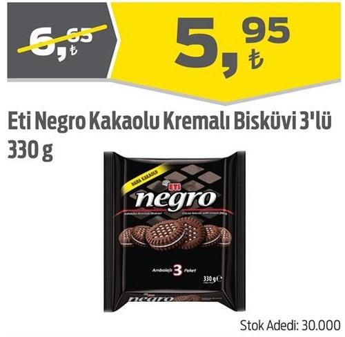Eti Negro Kakaolu Kremalı Bisküvi 3'lü 330 g image