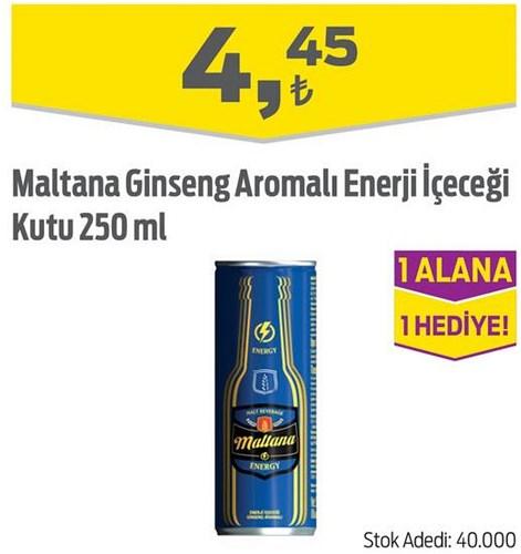 Maltana Ginseng Aromalı Enerji İçeceği Kutu 250 ml image