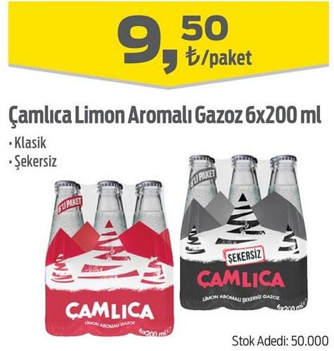 Çamlıca Limon Aromalı Gazoz 6x200 ml image