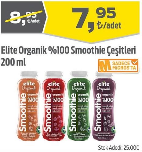 Elite Organik %100 Smoothie Çeşitleri 200 ml image