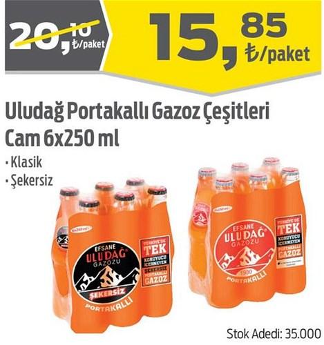 Uludağ Portakallı Gazoz Çeşitleri Cam 6x250 ml image