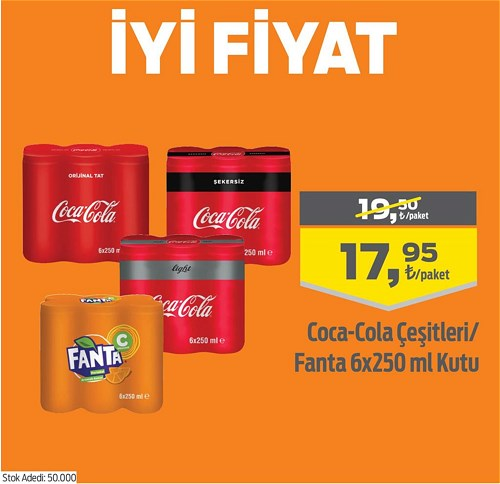 Coca-Cola Çeşitleri/Fanta 6x250 ml Kutu image