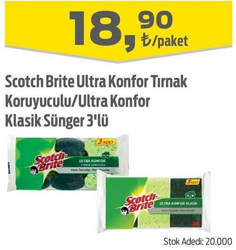 Scotch Brite Ultra Konfor Tırnak Koruyuculu/Ultra Konfor Klasik Sünger 3'lü image