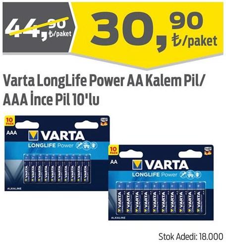 Varta LongLife Power AA Kalem Pil/AAA İnce Pil 10'lu image