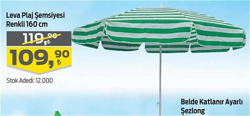 Leva Plaj Şemsiyesi Renkli 160 cm image