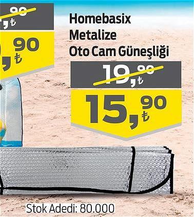 Homebasix Metalize Oto Cam Güneşliği image
