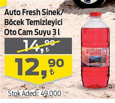 Auto Fresh Sinek/Böcek Temizleyici Oto Cam Suyu 3 l image