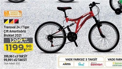 Transval 24 J Tiger Çift Amortisörlü Bisiklet 2021 image